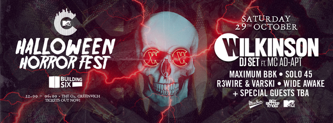 Milkshake Presents: The MTV Halloween Horror Fest! Feat: Willkinson, Solo 45 & Maximum (BBK) + More TBA!