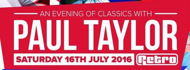 Venus Classics Presents - PAUL TAYLOR (Retro)