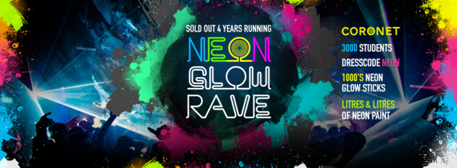 The 2016 Freshers Neon Glow Rave!