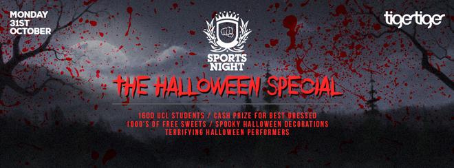 Sportsnite Halloween Special! First 200 Tickets £3!