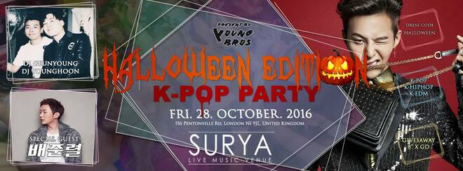   Halloween K-Pop Party in London l Young Bros l Bae Junryul