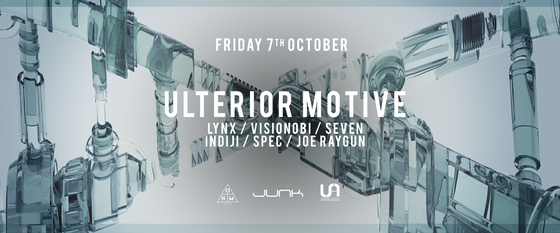 OHM Presents: Ulterior Motive & Uprise Audio on Fri 7th Oct 2016 at Junk, Southampton | Fatsoma