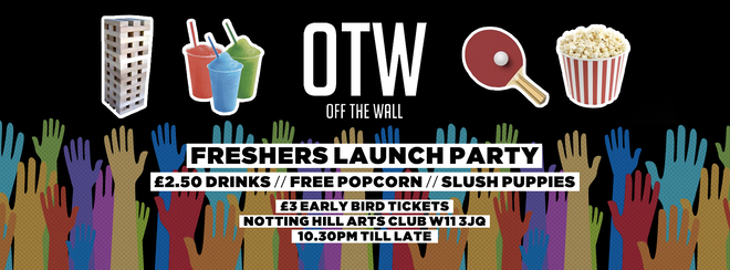 Off The Wall - Freshers Launch Party